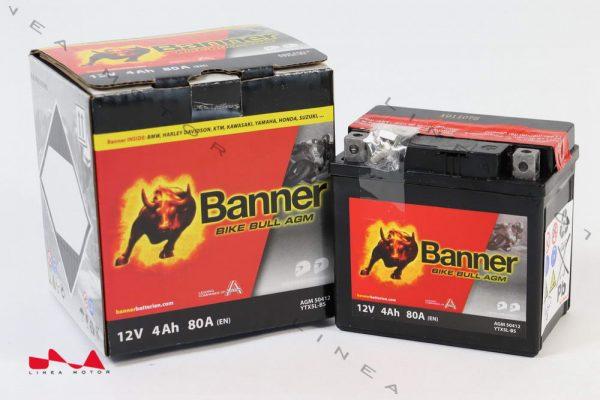 Banner Bike Bull YTX5L-BS AGM motorkerékpár akkumulátor J+